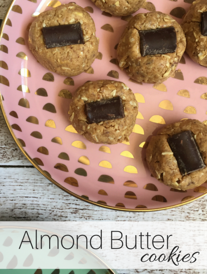 No Bake Almond Butter Cookies