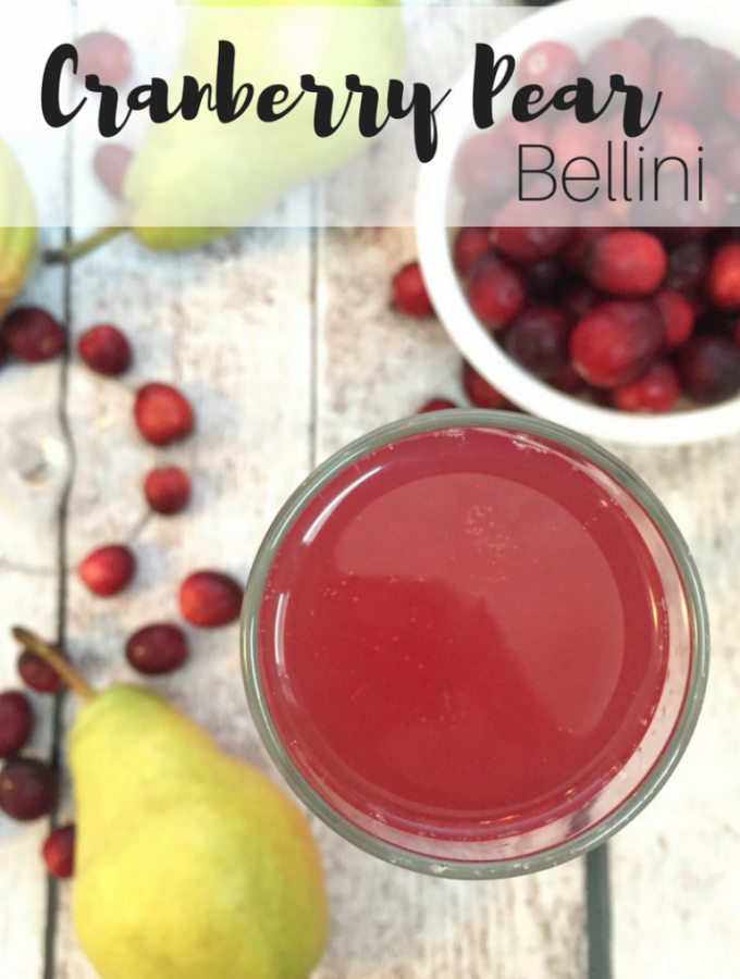 Cranberry Pear Bellinis