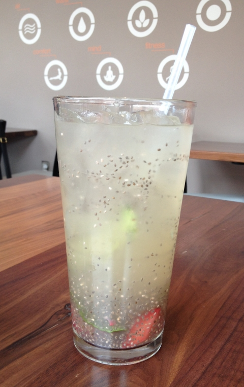 Cucumber Mint Chia Water