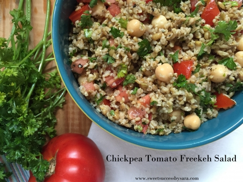 Chickpea Tomato Freekeh Salad + a Freekeh Foods Giveaway!!