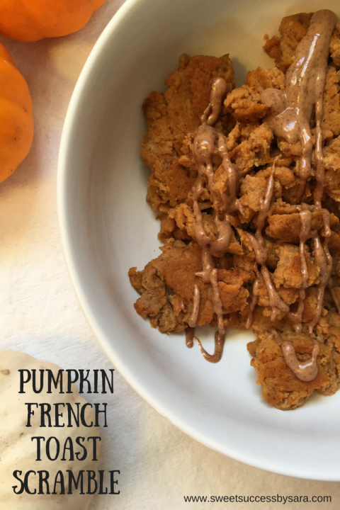 Pumpkin French Toast Scramble