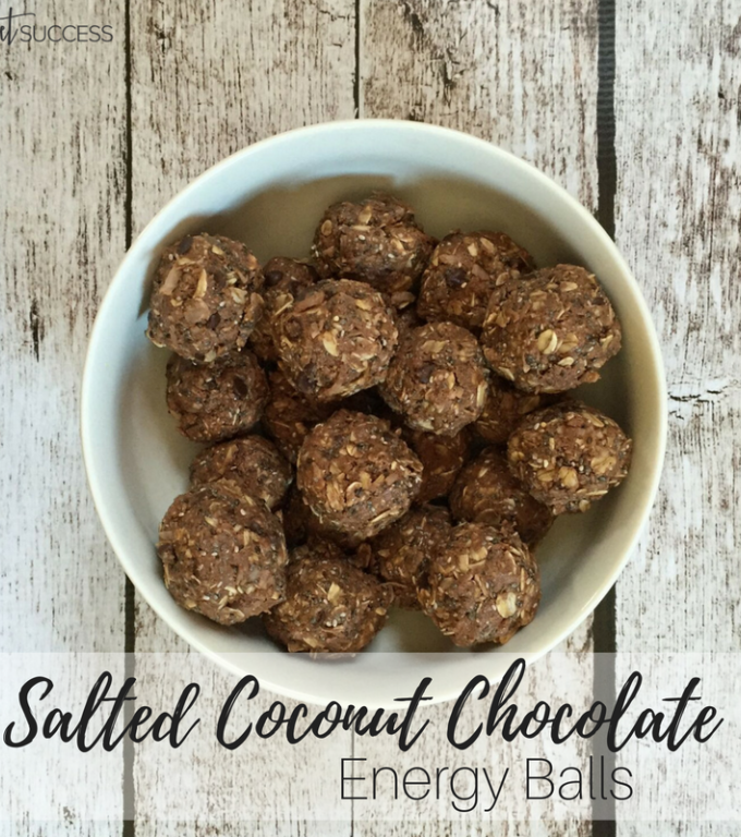 Salted Coconut Chocolate Energy Balls