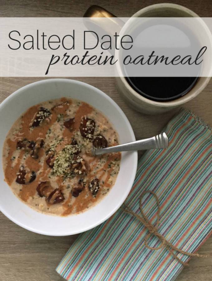 Salted Date Protein Oatmeal